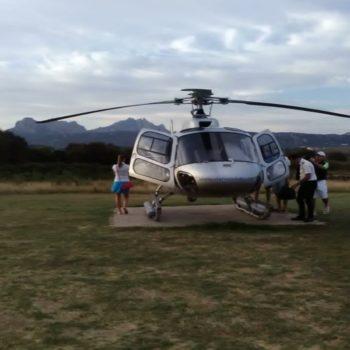 helicopter service porto cervo