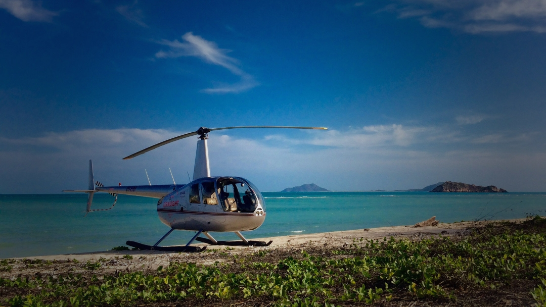 servizio con elicottero sardegna