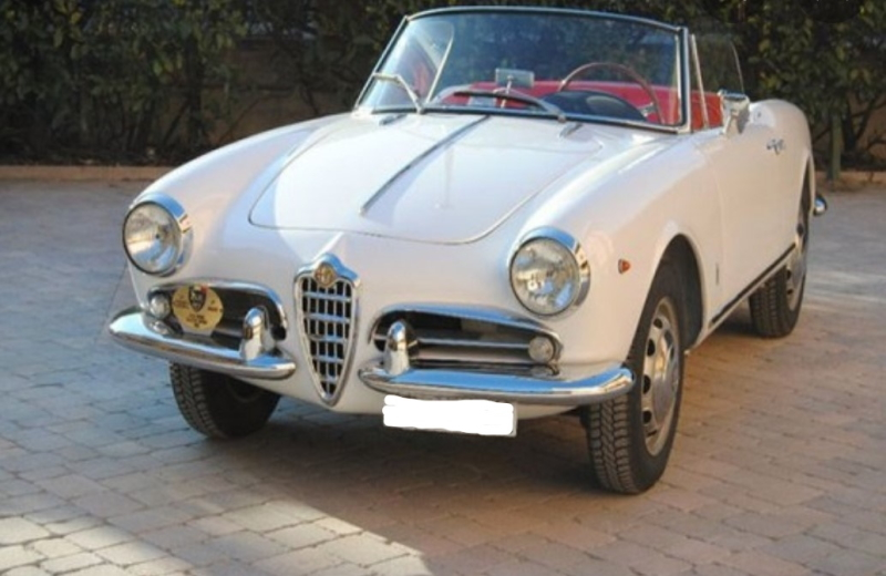 vintage rental car alfa romeo